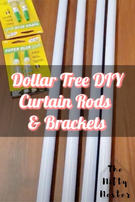 Dollar Tree DIY Curtain Rod & Brackets 2