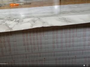 contact paper countertops around counter edge