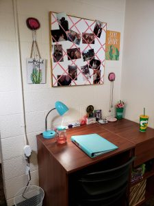 dorm room study area