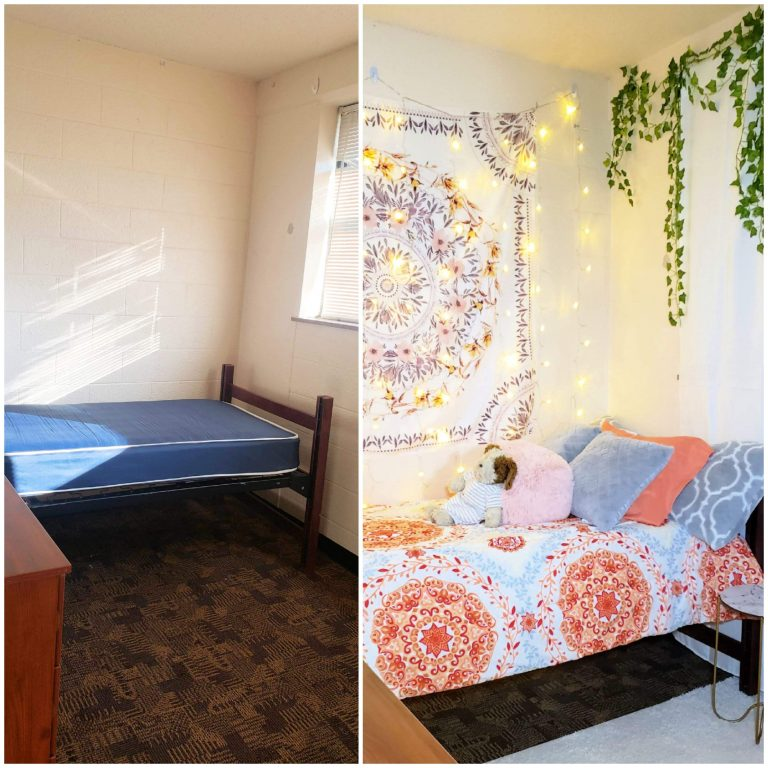 extreme dorm room diy makeover before and after