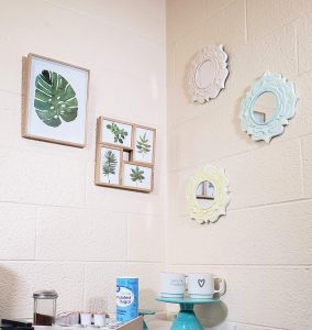 dorm room entryway decor