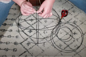 Attaching Ring To Pendant Light Frame