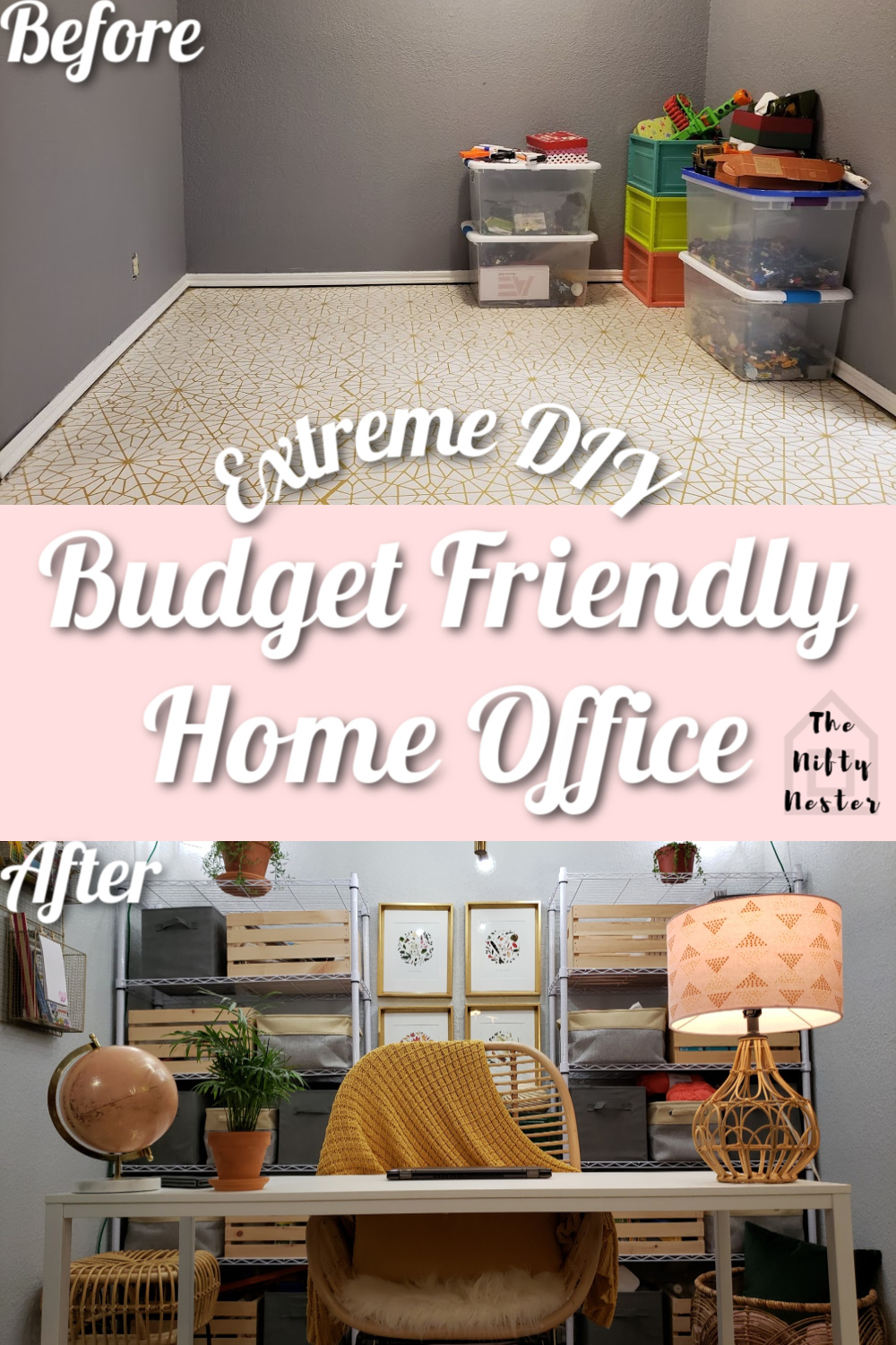 budget friendly home office pin 1