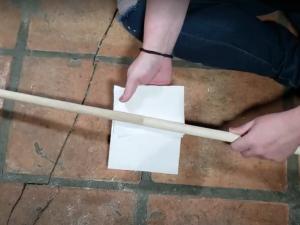 glue diy wooden curtain rod