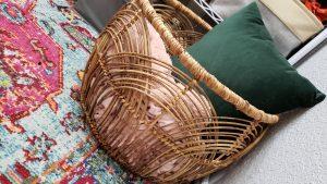 throw blanket basket