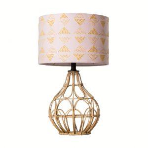 rattan office lamp