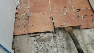 how to remove ceramic tile and thinset