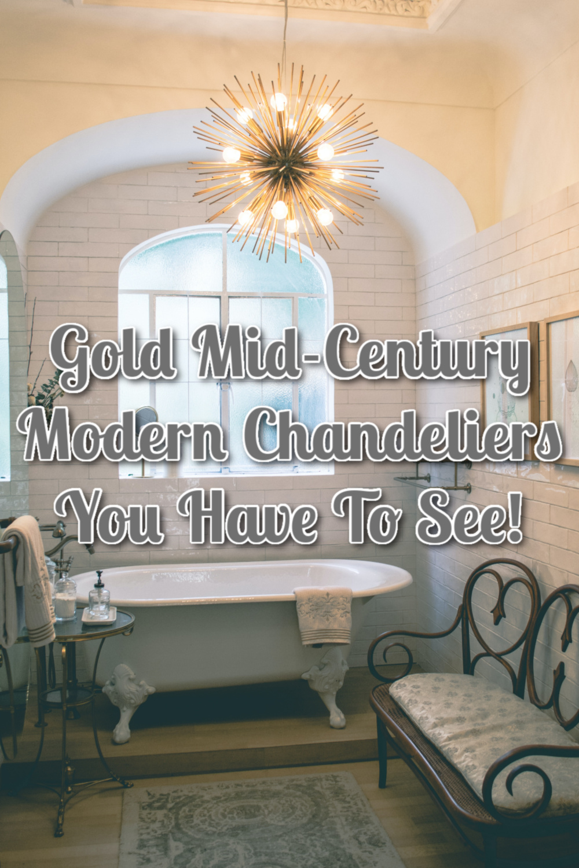 gold Mid-Century Chandeliers